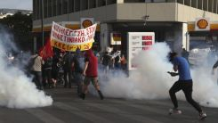 Atina'da İsrail karşıtı göstericilere polis müdahale etti