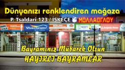 İskeçe'nin en iddialı boya mağazası MOLLA OĞLU Ramazan bayramını kutladı