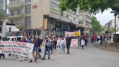 İsrail'in Mescid-i Aksa ve Gazze'ye yönelik saldırıları Atina ve İskeçe'de protesto edildi