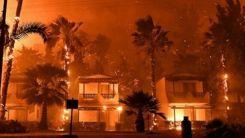Atina'da çıkan yangında çok sayıda ev hasar gördü