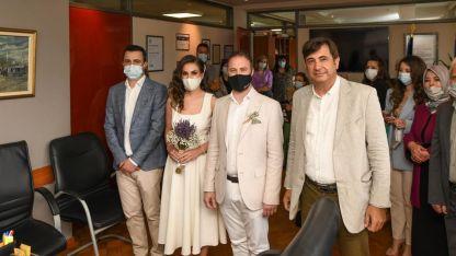 Makina Mühendisi Hasan Hasan ve Pınar Memet nikâhlandı