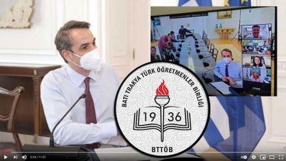 Başbakan Miçotakis'in ifadelerine BTTÖB'de tepki gösterdi