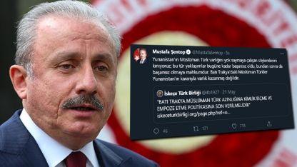 TBMM Başkanı Şentop, Başbakan Miçotakis'in açıklamalarını kınadı