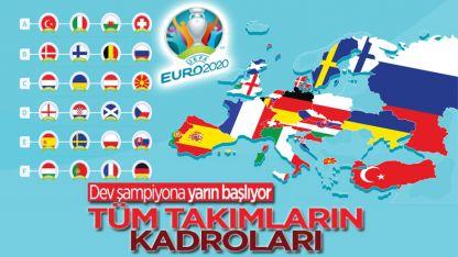 EURO 2020'deki tüm takımların kadroları
