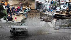 Selanik'te sel felaketi can aldı, onlarca ev su altında!