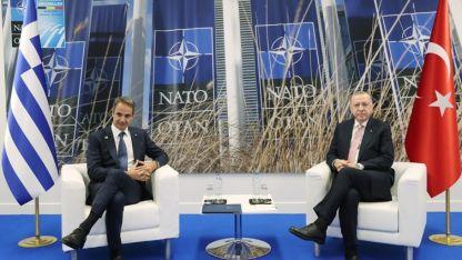 Cumhurbaşkanı Erdoğan ile Başbakan Miçotakis Brüksel'de görüştü