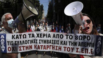 Yunanistan'da grev nedeniyle hayat durdu
