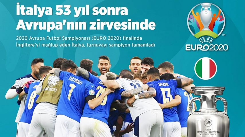 EURO 2020'nin şampiyonu İtalya