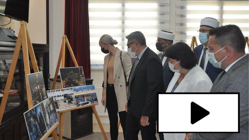 """VİDEO   GTGB'de """"15 Temmuz"""" konulu resim sergisi düzenlendi"""