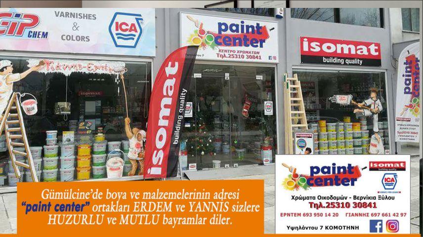 """""""paint center""""ortakları ERDEM ve YANNİS'ten bayram tebriği"""