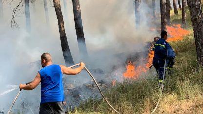 Yassıköy Belediyesi'nde yerleşim alanını tehdit eden yangın kontrol altına alındı