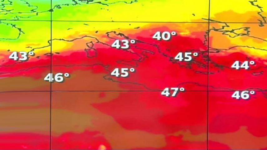 Yunanistan'da son 35 yılın en sıcak günleri yaşanıyor