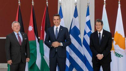 Yunanistan, Ürdün ve G. Kıbrıs Rum Yönetimi liderleri Atina'da bir araya geldi