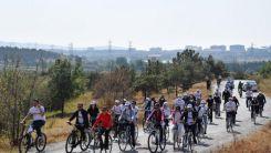 Avrupalı gençler Kızılcahamam'da pedal çevirdi