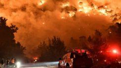 Atina-Selanik karayolu orman yangınları nedeniyle trafiğe kapatıldı