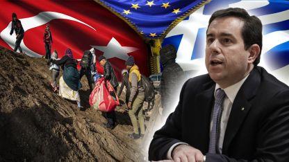 """Göç Bakanı Mitarakis: """"Kapasitemiz yok, Türkiye'ye destek verelim"""""""