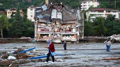 Kastamonu'da sel felaketinden geriye kalanlar