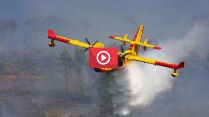 Gümülcine'de orman yangınına havadan da müdahale ediliyor