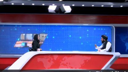 Afgan kadın sunucunun programında Taliban'dan ılımlı mesajlar