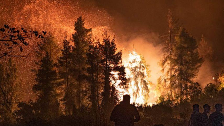 Vilia bölgesinde 5 gündür devam eden yangın söndürme çalışmaları sürüyor