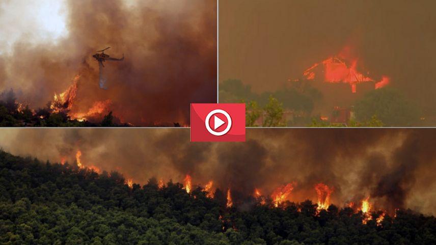 Yunanistan'da yangınlar kontrol altına alınamıyor
