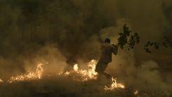 Eğriboz'da yeniden çıkan yangınla mücadele sürüyor