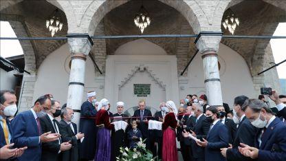 Saraybosna'daki Başçarşı Camisi, Erdoğan'ın katıldığı törenle yeniden ibadete açıldı