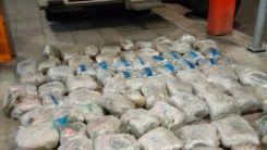 Yunanistan'da K. Makedonya plakalı tırda 90 kilo esrarla yakalandı
