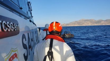 Yunanistan tarafından geri itilen 166 kaçak göçmen kurtarıldı