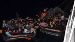 Geri itilen 74 düzensiz göçmen kurtarıldı