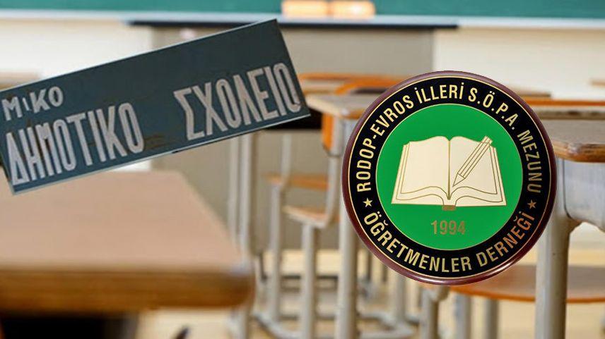 Rodop-Evros SÖPA Mezunu Öğretmenler Derneği'inden yeni eğitim öğretim yılı mesajı