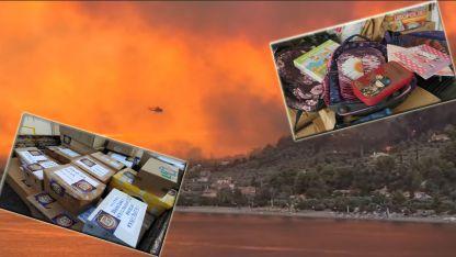 Gümülcine'den yangınzede çocuklara malzeme yardımı