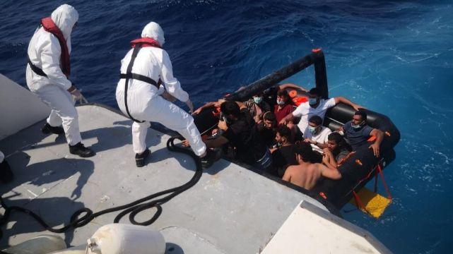 Ege'de geri itilen 39 kaçak göçmen kurtarıldı