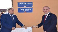 Yunus Emre'nin ismi Macaristan'da bir meydana verildi