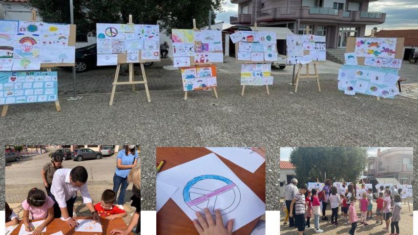 Öğrenciler barış için resim çizdiler, barış için boyadılar