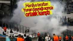 Marsilya-Galatasaray maçında olay çıktı