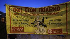 Yunanistan'ın silahlanma politikası sol gruplarca protesto edildi