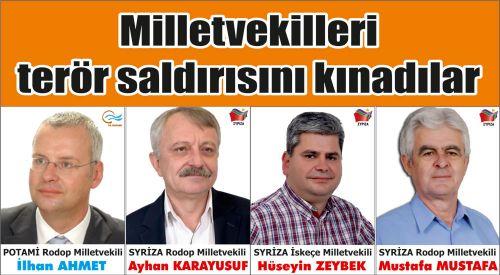 Azınlık Milletvekilleri Anavatan Türkiye'deki terör saldırısını kınadılar