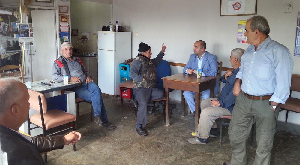 DEB Partisi Eşekçili köyünü ziyaret etti