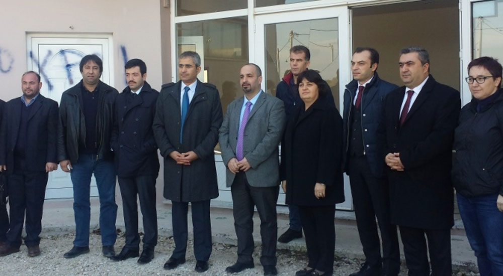 Başkonsolos Akıncı Saldırıya Uğrayan DEB Partisi Binasını Ziyaret Etti