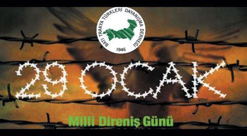 29 Ocak Milli Direniş Günü Anavatan'da da Anılacak