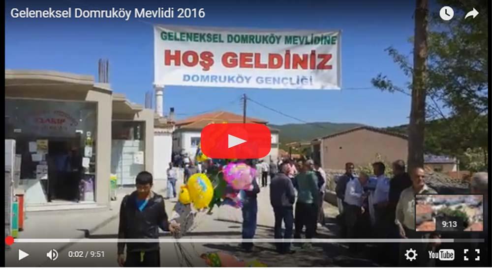 Geleneksel Domruköy Mevlidi Gerçekleşti (VİDEO)