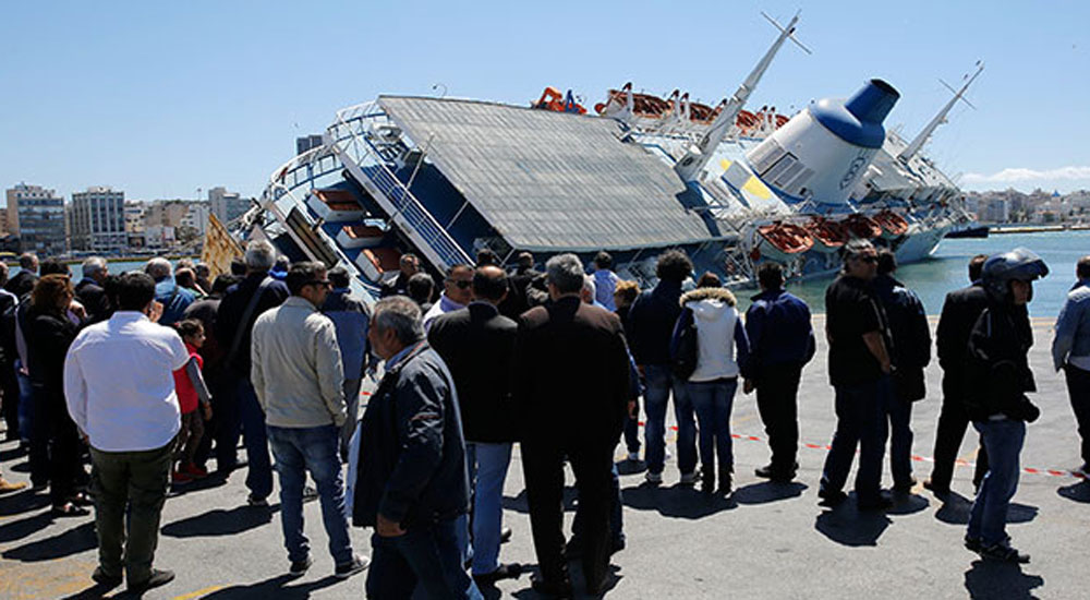 Pire Limanında Gemi Yan Yattı
