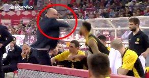 AEK Başantrenörü Maçta Oyuncusuna Yumruk Salladı