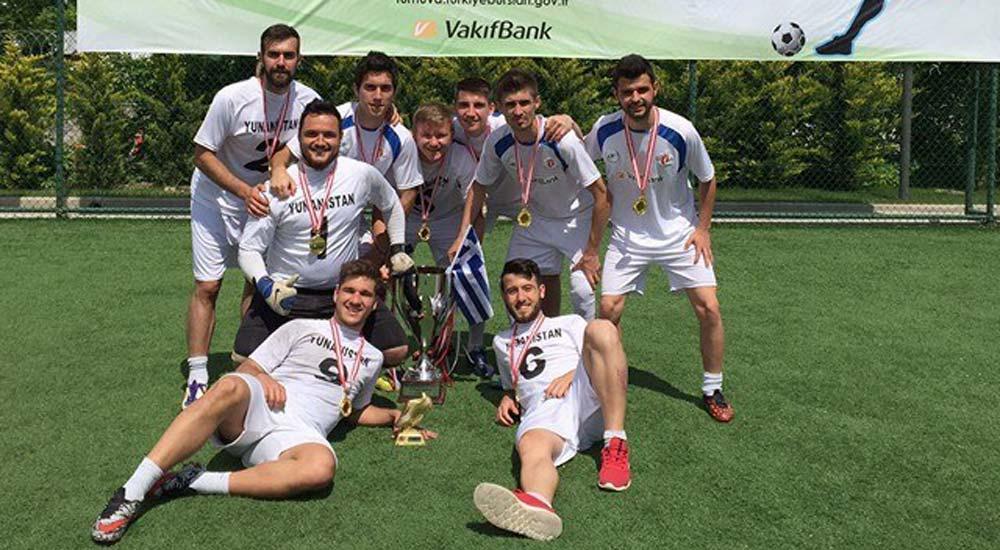 Batı Trakyalı futbolcular Dünya Kupası'nı kazandı