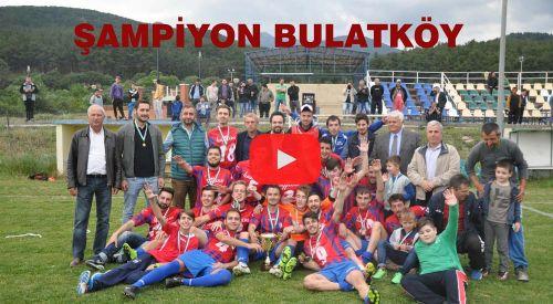 Bulatköy futbolcuları şampiyonluğu kutladı (VİDEO)