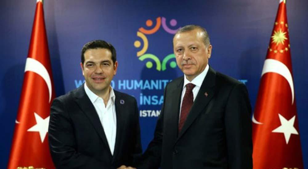 Başbakan Tsipras Cumhurbaşkanı Erdoğan'la görüştü