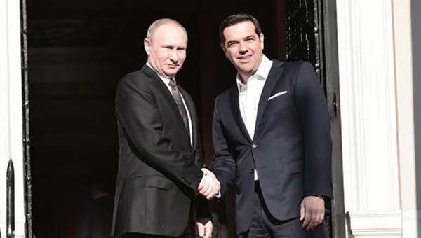 Putin ve Çipras Basına Açıklamalarda Bulundu