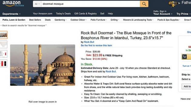 Amazon, Cami Resimli Paspasları Kaldırmadı