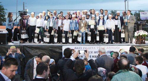 İskeçe'de Kur'an yarışmasının birincisi Sakarkaya köyünden